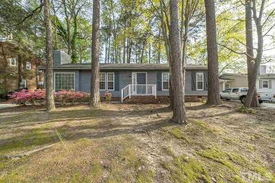 Raleigh Single Family Home Contingent: 3708 Dusty Lane