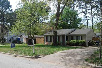 Wake County Single Family Home Contingent: 8705 Bucksport Lane