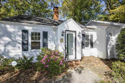 Chapel Hill Single Family Home For Sale: 7 Davie