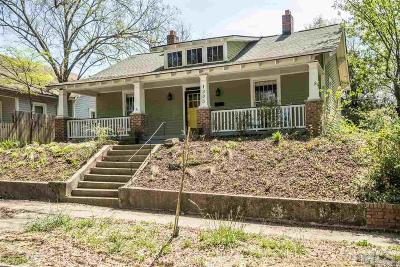 Durham Single Family Home Contingent: 1303 W Chapel Hill Street