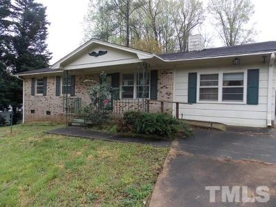 Raleigh Single Family Home Pending: 2835 Oak Ridge Court