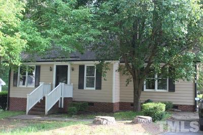 Raleigh NC Single Family Home For Sale: $185,000