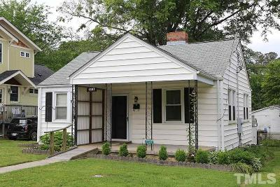 Wake County Single Family Home Contingent: 1207 Clifton Street