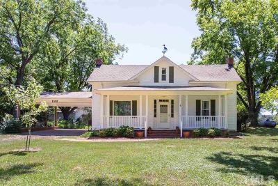 Benson Single Family Home Contingent: 198 S Pleasant Coates Road