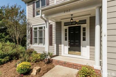 Wake County, Durham County, Orange County, Chatham County Single Family Home For Sale: 202 Rossburn Way