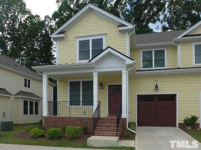 Chapel Hill Townhouse For Sale: 528 Lena Circle