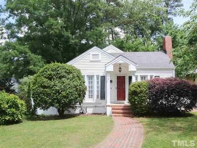 Durham Single Family Home Contingent: 2122 Woodrow Street