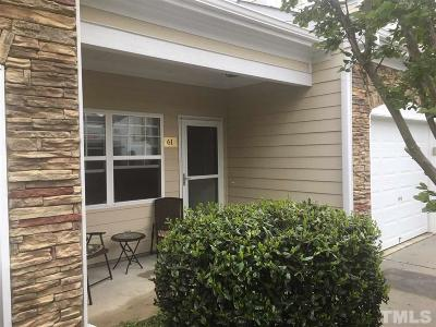 Clayton NC Townhouse For Sale: $174,900