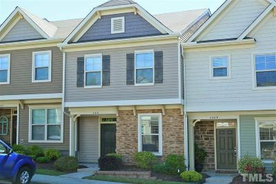 Raleigh Townhouse For Sale: 6410 Swatner Drive