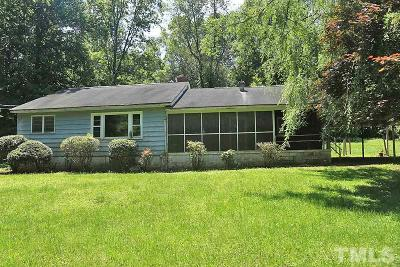 Rougemont Single Family Home For Sale: 12507 Roxboro Road