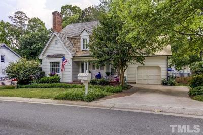 Raleigh Single Family Home Contingent: 2277 Brisbayne Circle