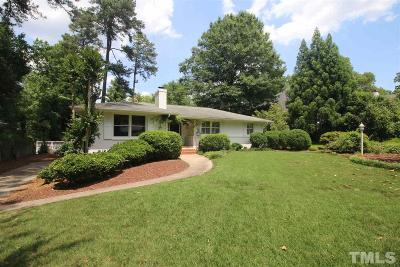 Raleigh Single Family Home Contingent: 2906 Fairview Road