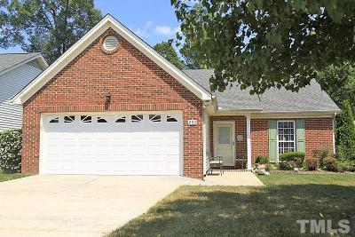 Morrisville Single Family Home Contingent: 203 Kudrow Lane