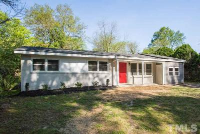 Raleigh Single Family Home Contingent: 920 Beverly Drive