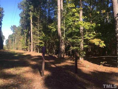 Chatham County Residential Lots & Land For Sale: 1418 Crawford Dairy Road