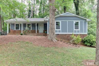 Raleigh Single Family Home Contingent: 5409 Fieldstone Drive