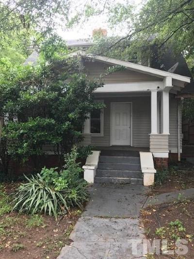 Raleigh Single Family Home For Sale: 191 Chamberlain Street