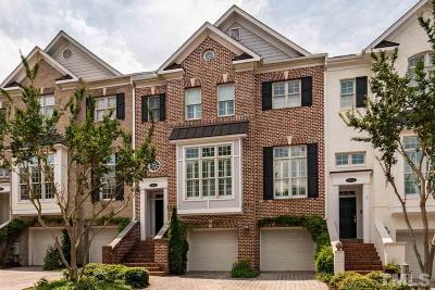 Wake County, Durham County, Orange County, Chatham County Townhouse For Sale: 3929 Bentley Brook Drive