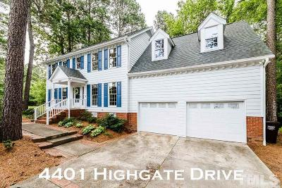 Durham Single Family Home For Sale: 4401 Highgate Drive