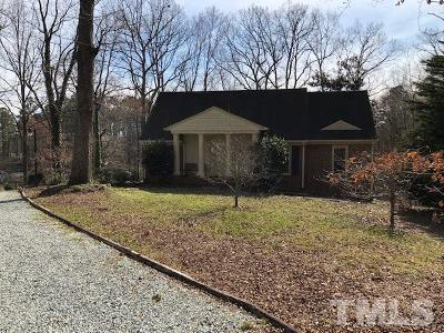 Durham Single Family Home For Sale: 3837 Shoccoree Drive