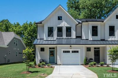 Cary Townhouse For Sale: 522 Wood Street