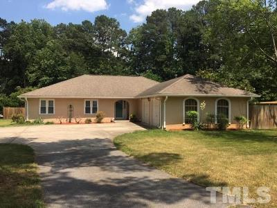 Wake County Single Family Home For Sale: 1001 Plateau Lane