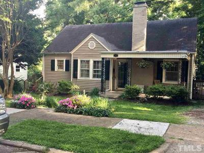 Raleigh Single Family Home For Sale: 1829 Arlington Street