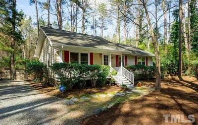 Chapel Hill Single Family Home Pending: 22 Red Pine Road