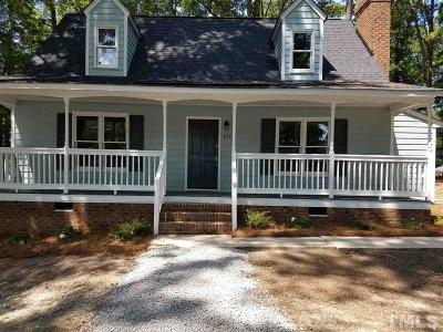 Zebulon Single Family Home Contingent: 8482 Nc 39 Highway