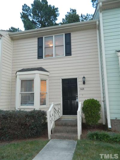 Raleigh Townhouse For Sale: 5418 Sharpe Drive
