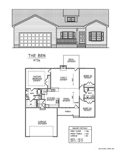 Benson Single Family Home Contingent: 5734 Old Fairground Road #Lot 1