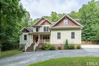 Pittsboro Single Family Home Contingent: 3247 Hamlets Chapel Road