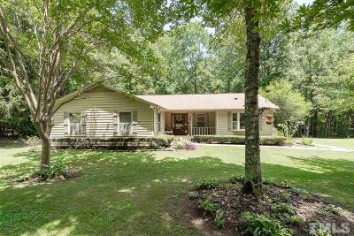 Hillsborough Single Family Home For Sale: 3312 Walker Road