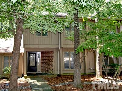 Chapel Hill Townhouse For Sale: 121 Gristmill Lane