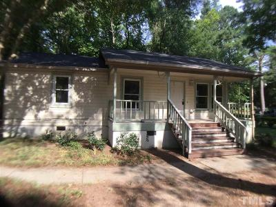 Raleigh NC Single Family Home For Sale: $139,000