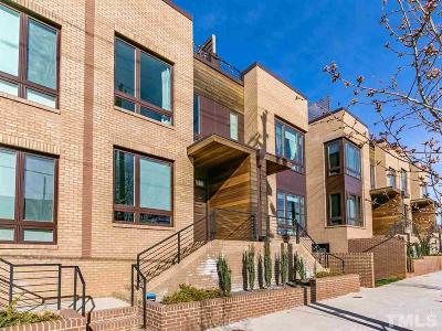 Raleigh Townhouse For Sale: 614 S West Street