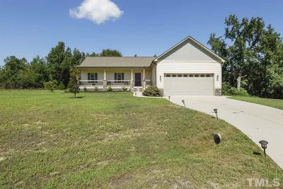 Benson Single Family Home Contingent: 187 Creech Place Drive