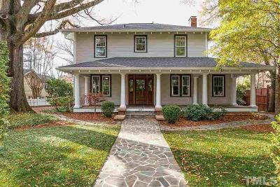 Raleigh Single Family Home Contingent: 1607 Scales Street