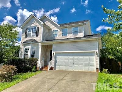 Raleigh Single Family Home Contingent: 4724 Parr Vista Court