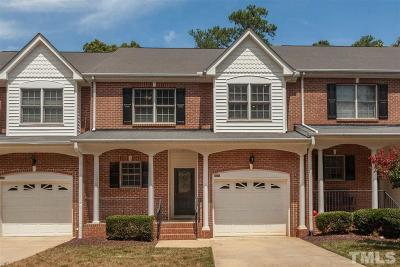 Raleigh Townhouse For Sale: 5445 Cottonrose Lane