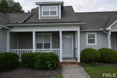 Clayton Townhouse For Sale: 215 W Moss Creek Drive