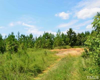Chatham County Residential Lots & Land Contingent: 5987 Nc 902 Highway