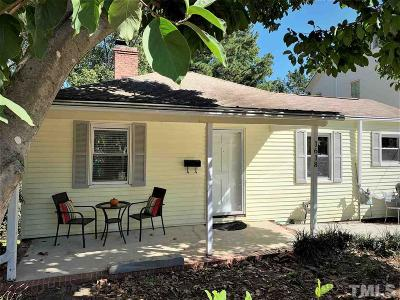 Raleigh Single Family Home For Sale: 1618 Bickett Boulevard