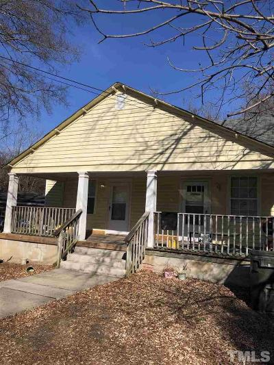 Durham Multi Family Home For Sale: 2613 & 2615 Ashe Street
