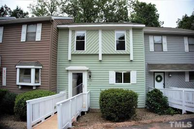 Raleigh Townhouse For Sale: 5710 Poolside Drive