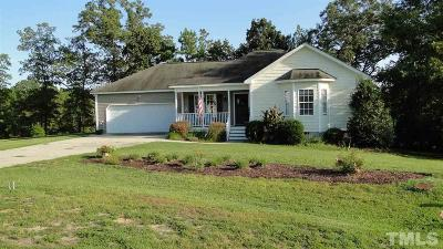 Angier Single Family Home Contingent: 182 High Standard Lane