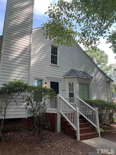 Raleigh Townhouse For Sale: 6041 Epping Forest Drive