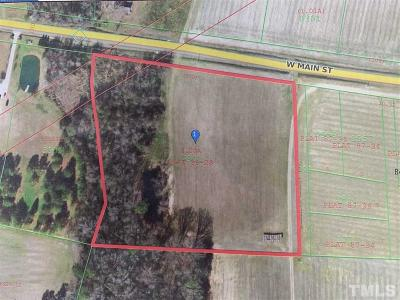 Johnston County Residential Lots & Land For Sale: W Main Street