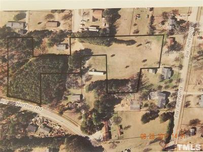 Wake County Residential Lots & Land For Sale: Horton Road
