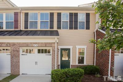 Cary Townhouse For Sale: 474 Panorama View Loop